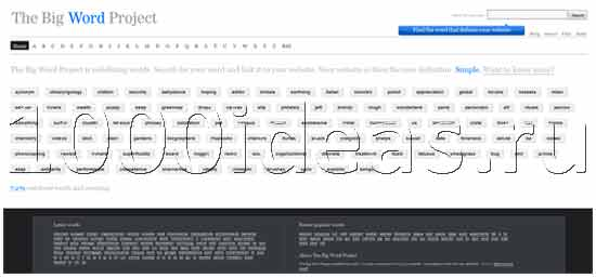 Сайт на миллион букв