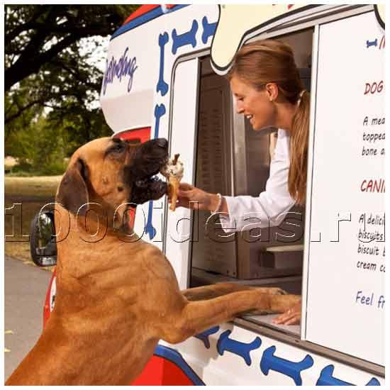 Фургон по продаже мороженого для собак