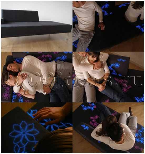 Интерактивный диван для влюбленных