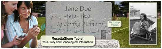 Таблички на надгробия, дающие  доступ к  информации о жизни покойного