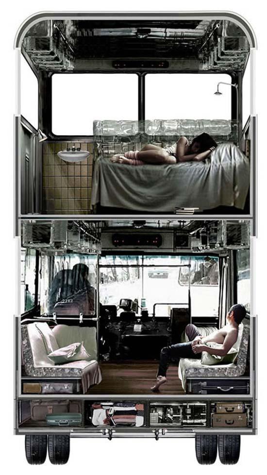 Идея № 2081. Отель в двухэтажном автобусе