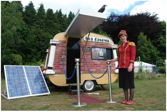 Бизнес идея № 2153. Экологический кинотеатр на солнечных батареях