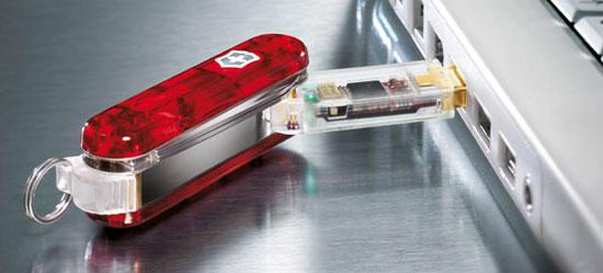 Бизнес идея № 2171. Перочинный нож со встроенной флешкой