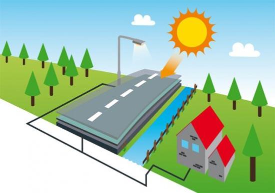 В Голландии было изобретено дорожное покрытие, преобразующее солнечную энергию в электрическую.