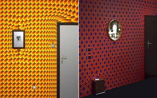 Необычные сюрреалистические обои пользуются популярностью у хозяев различных заведений таких, как бары, кафе, комнаты смеха и многие другие места отдыха.