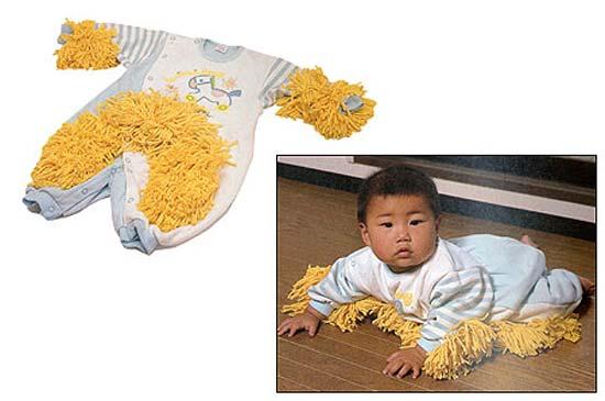 Идея костюма-подметалки Baby Mops родом из Японии.