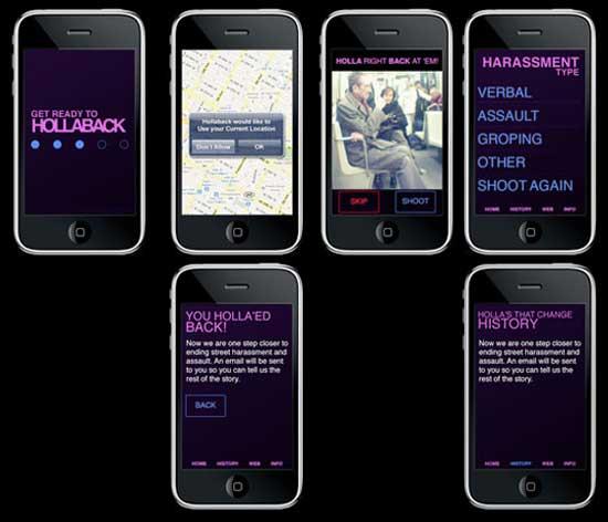 При помощи мобильного приложения для борьбы с уличным насилием, пострадавшие женщины могут делиться   другими  своим горьким опытом, фотографиями злоумышленников и проверенными безопасными маршрутами.