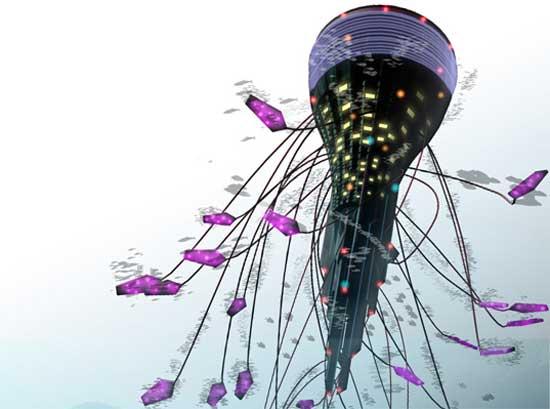 Проект города под водой был разработан малазийским архитектурным бюро Sarly Adre Bin Sarkum.