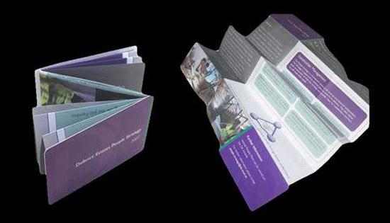 Зет-карта — это, собственно, буклет, сложенный до размера визитки и визитку же напоминающий по своему внешнему виду, дизайну.