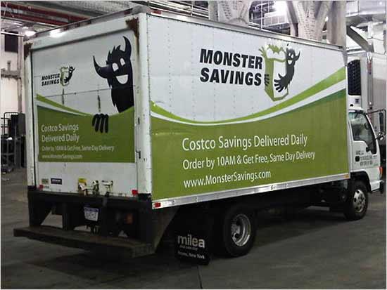 Майкл Эберштадт (Michael Eberstadt)  житель Манхеттена организовал свой бизнес на доставке покупок из  Костко  (Costco).