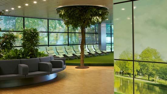 К тому же площадь парка, находящегося в здании аэропорта, создана таким образом, что воспроизводит ощущение нахождения на улице.