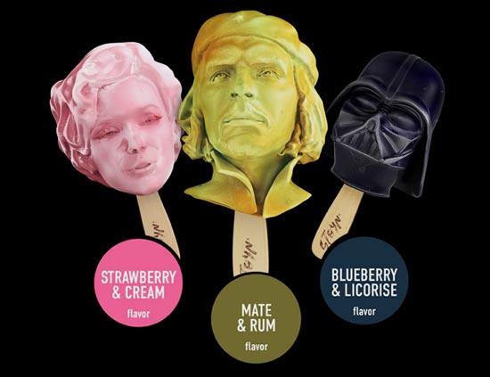 Рекламное агентство STOYN представила на суд искушённой публики свой новый экспериментальный проект STOYN Ice Cream - необычное мороженое в виде фигур знаменитых деятелей культуры.