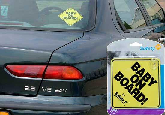 После неудачной поездки домой с 18-месячным племянником Michael Lerner решил организовать свой бизнес и выпускать автомобильные знаки «Осторожно дети».