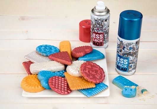 Немецкая компания The Deli Garage представила на рынок свое новое изобретение - спрей-краску для продуктов под названием Esslack Food.