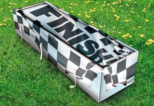 Британская компания Creative Coffins предлагает своим клиентам создать собственный уникальный дизайн для гроба.