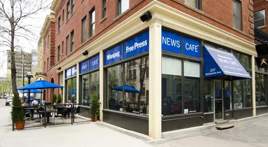 Бизнес-идея канадской газеты организации кафе для журналистов как способ взаимодействия с народными журналистами и привлечения новой читательской аудитории вполне перспективна и  заслуживает тиражирования другими изданиями.