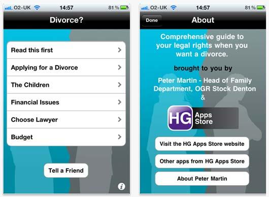 Адвокат из Великобритании Питер Мартин (Peter Martin) разработал приложение для iPhone, iPad или iPod Touch для разведенных.