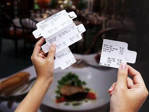 Отрывной счёт в ресторане на каждого гостя