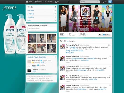 Фон корпоративного блога в Twitter – отличное место для рекламы