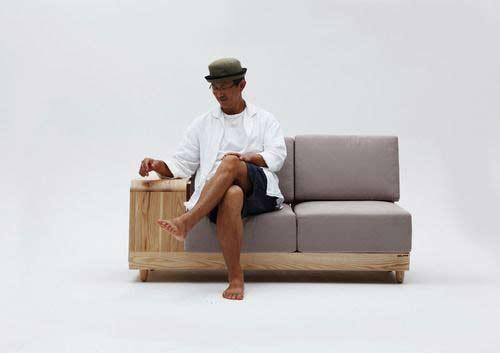 Дизайнерский диван с собачьей будкой 2 в 1