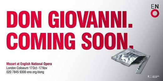 Скандальная реклама оперы «Дон Жуан»