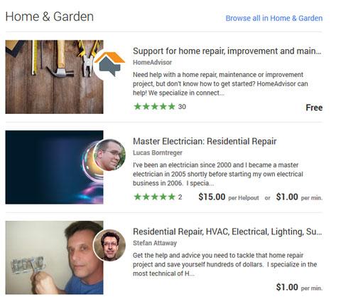 ������ Helpouts Google