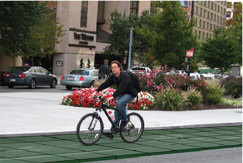 модульная плитка для велодорожек