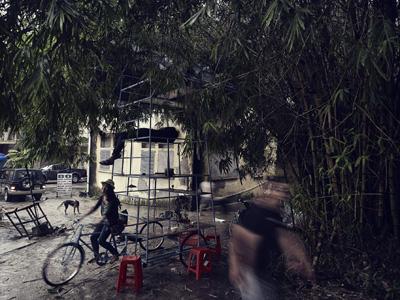 трехэтажный велосипед