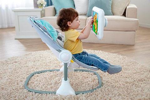 кресло-качалка для детей с держателем  iPad