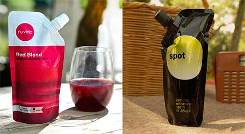 вино в пластиково упаковке