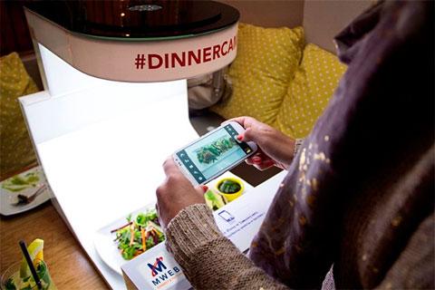 девайс для инстаграма еды в ресторане